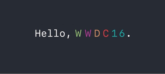 Apple : Keynote WWDC 2016