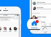 Facebook Messenger : Accueil de la messagerie