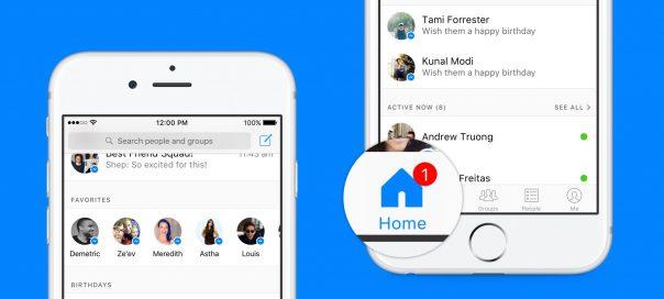 Facebook Messenger : Une page d'accueil avec les informations essentielles