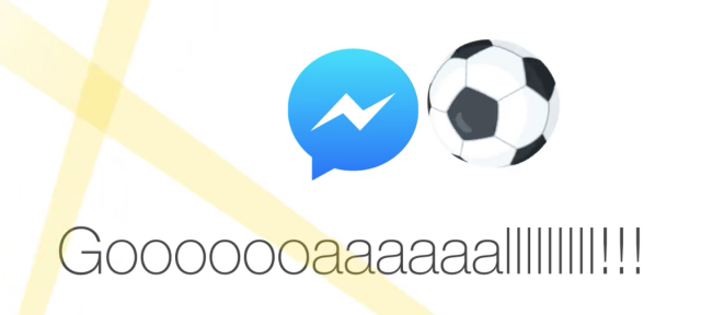 Facebook Messenger : Jeu de foot