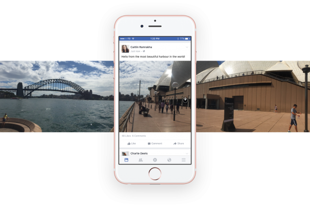 Facebook : Photo à 360 degrés - Fil d'actu