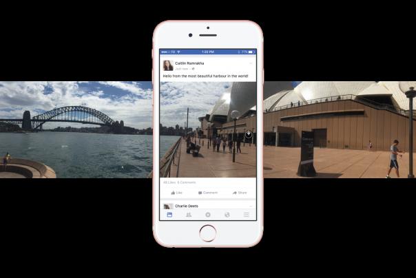 Facebook : Photo à 360 degrés - Fil d'actu