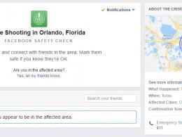 Facebook : Safety Check - Shooting Orlando