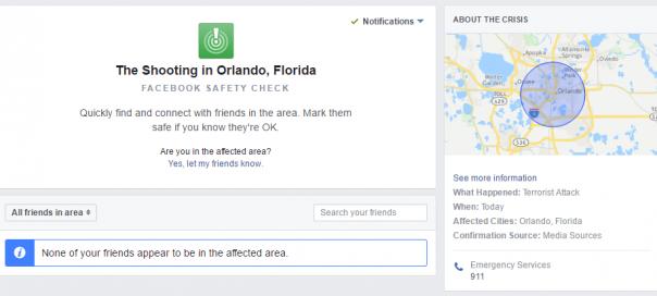 Facebook : Safety Check déployé pour la première fois aux USA