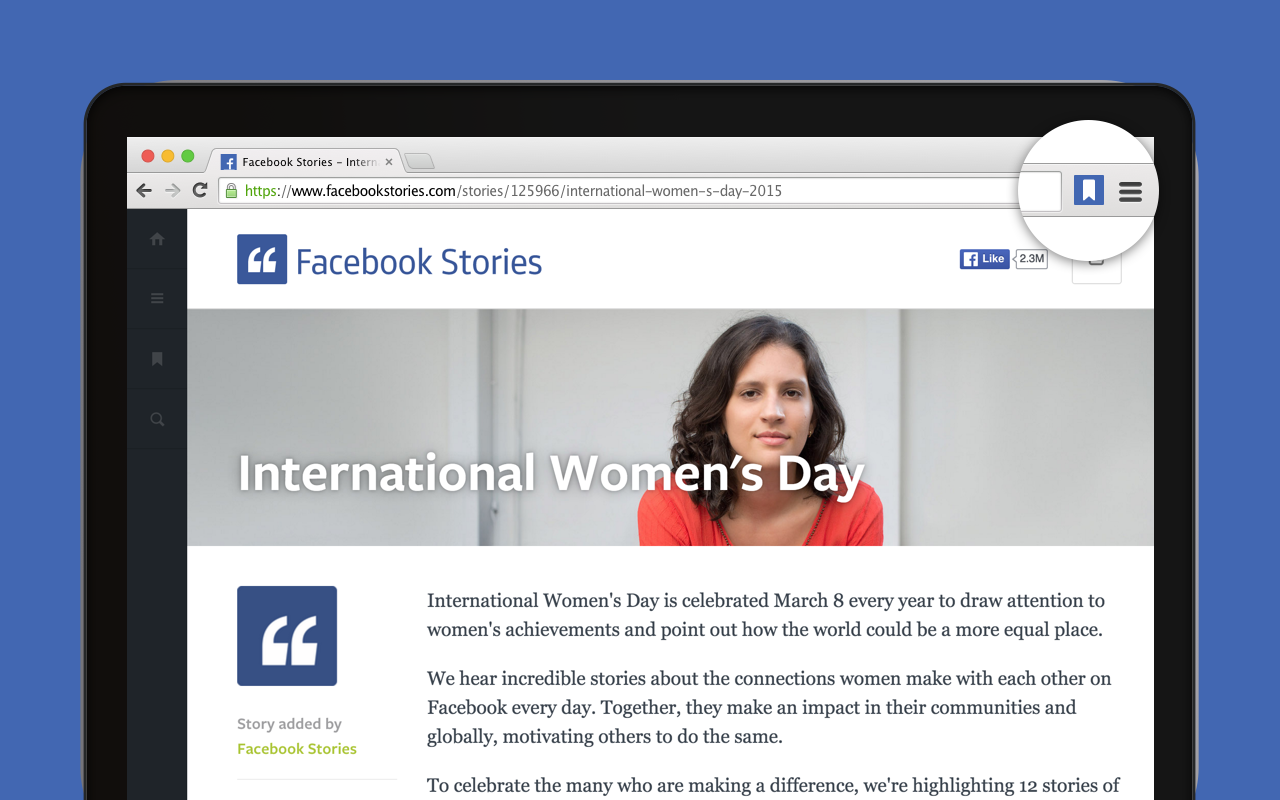Facebook : Boutons sur mobile