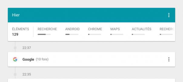 Google : L'historique complet de votre activité web & mobile