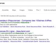 Google AdWords : Des étiquettes Annonce vertes en France
