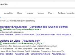 Google AdWords : Etiquettes vertes