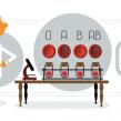 Google : Karl Landsteiner & le système ABO de groupe sanguin en doodle