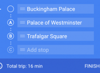 Google Maps sur Android : Itinéraire avec étapes