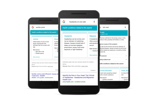 Google : Recherches de symptômes médicaux