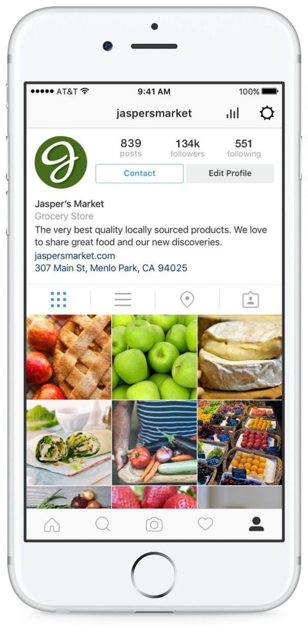 Instagram : Profil entreprise