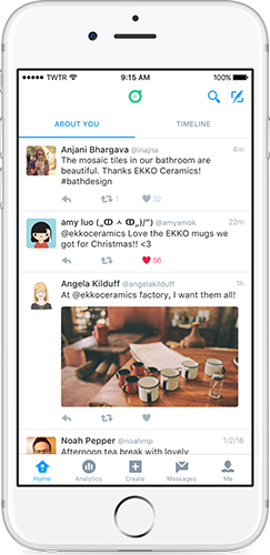 Twitter Dashboard : Timeline