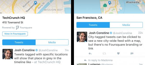 Twitter centralise les tweets d'un même lieu avec Foursquare