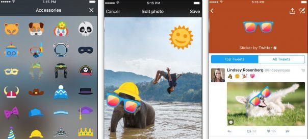 Twitter dévoile les stickers à coller sur les photos