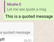 WhatsApp intègre la réponse avec citation de message