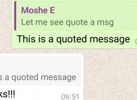 Whatsapp : Message avec citation
