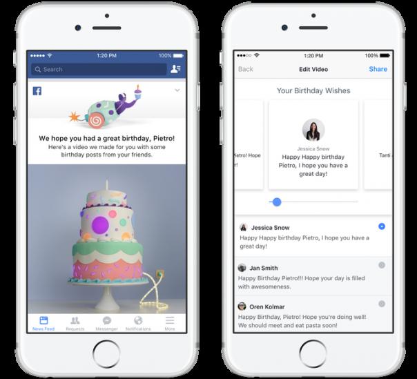 Facebook anniversaire video éditeur