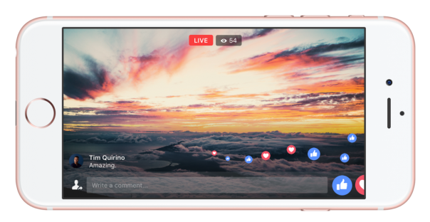 Facebook Live : Plein écran