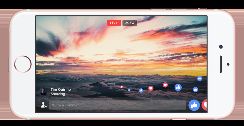 Facebook Live : Commentaires & réactions