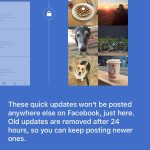 Facebook : Quick Updates - Explications