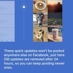 Facebook : Quick Updates - Explications