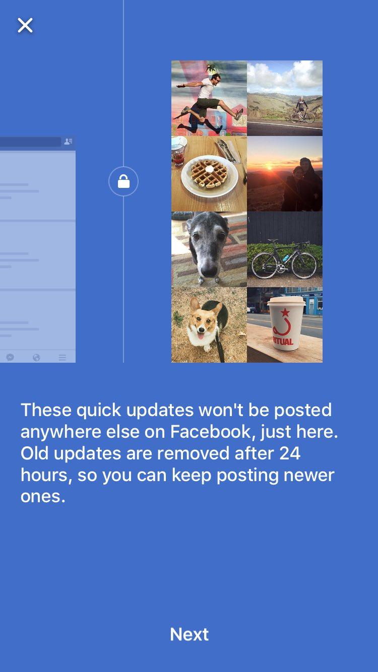 Facebook : Quick Updates - Amis
