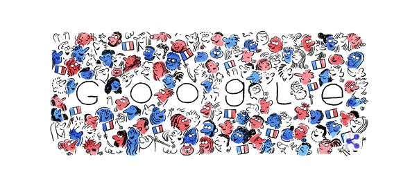 Google : Doodle 14 juillet