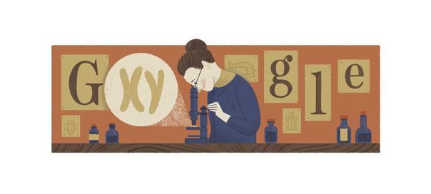 Google : Doodle Nettie Stevens - Chromosomes XY