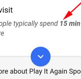 Google chronomètre le temps passé dans chaque lieu
