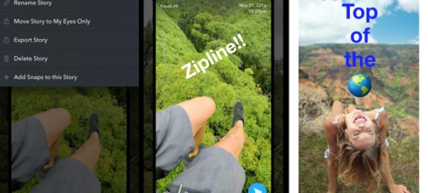 Snapchat : Lancement de Memories pour publier d'anciens contenus