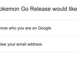 Pokémon Go : Permissions compte Google
