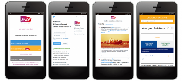 SNCF : Processus d'authentification Twitter pour l'accès au Wifi