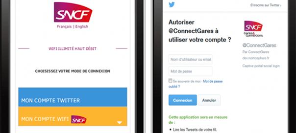 SNCF : Accès au Wifi via l'authentification Twitter