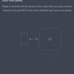 Balance connectée Xiaomi - Sychronisation