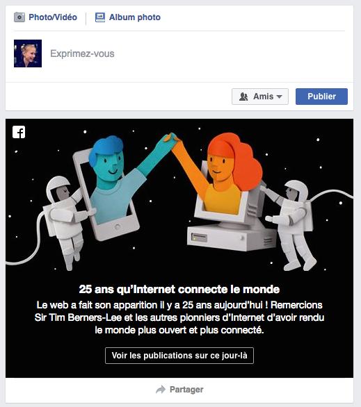 Anniversaire internet facebook