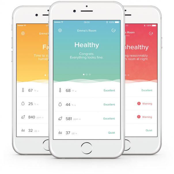 Netatmo Healthy Home Coach - Application mobile