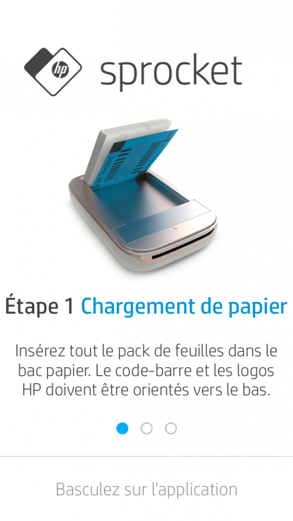 Chargement papier HP Sprocket