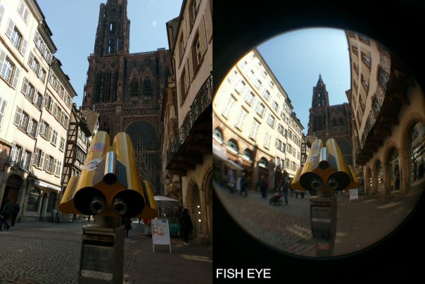 cathedrale avec et sans fish eye