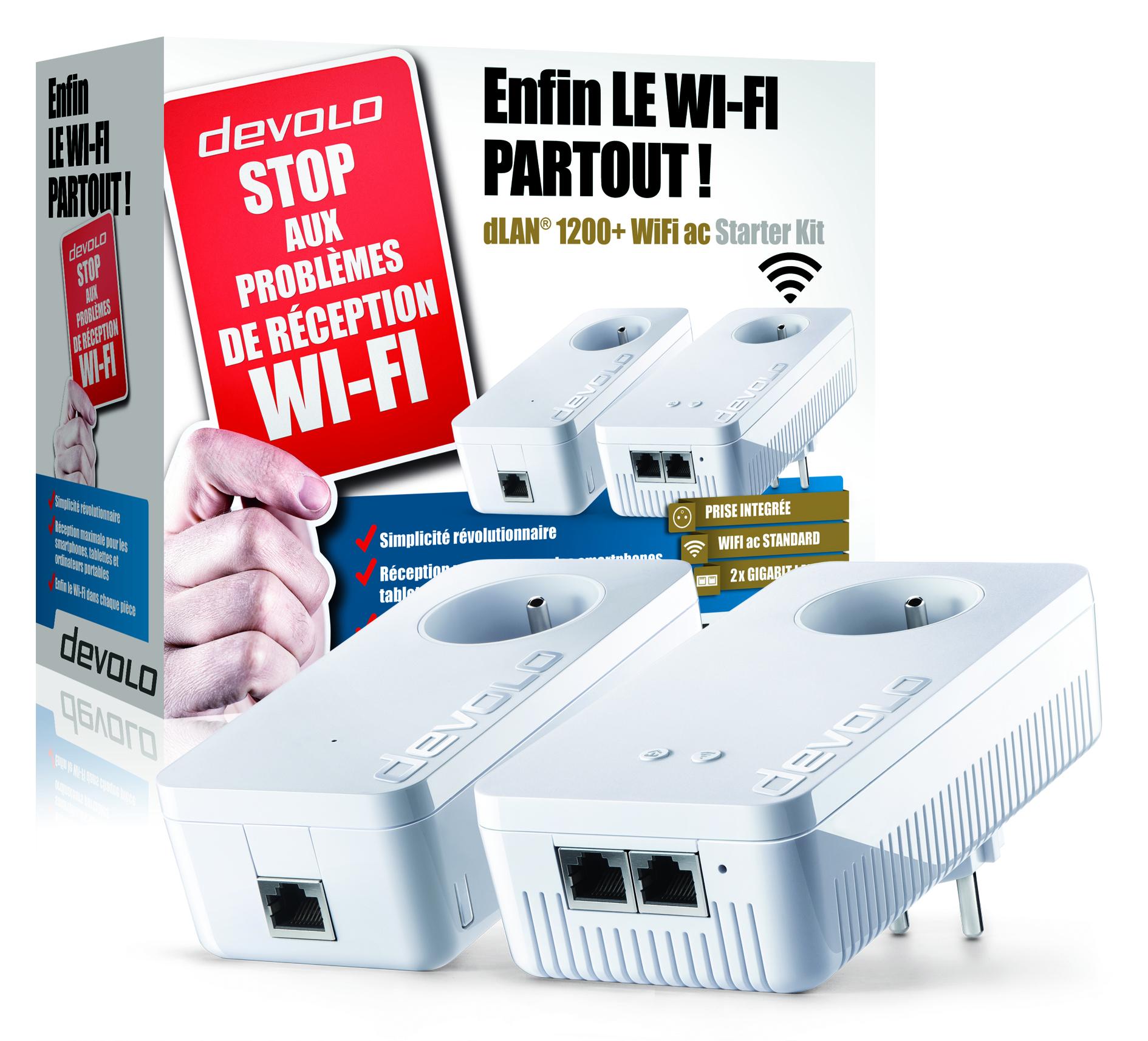 profitez de votre wifi l ext rieur avec le kit devolo. Black Bedroom Furniture Sets. Home Design Ideas