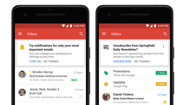 Gmail : Application mobile