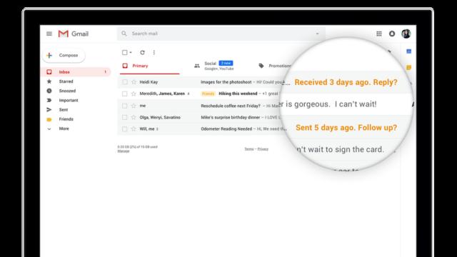 Gmail : Relances