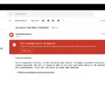 Gmail : Avertissement de sécurité
