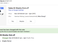 Google Agenda : Notification mail de changement