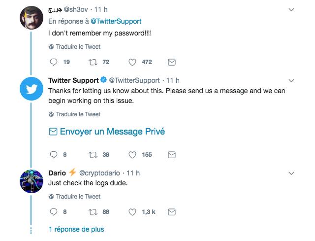 Twitter : Mots de passe