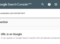 Google Search Console : Outil d'inspection d'URL