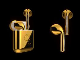 Brikk : AirPods en or et diamants