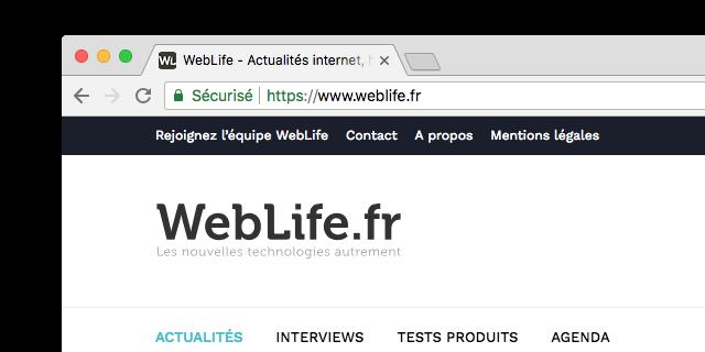 Google Chrome : HTTPS - Site sécurisé