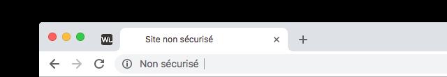 Google Chrome : Site non-sécurisé