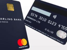 Starling Bank : Carte de paiement en portrait